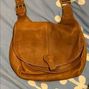 Real leather crossbody